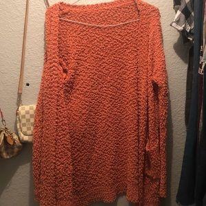 Sweaters - orange cardigan